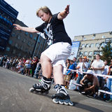 Rollerskating competition Stock Images