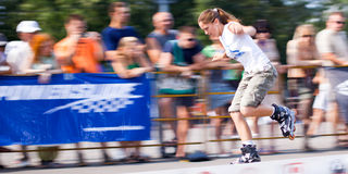 Rollerskating competition Royalty Free Stock Photos
