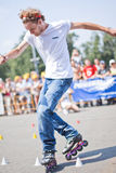 Rollerskating competition Stock Photography