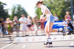 Rollerskating competition Stock Image