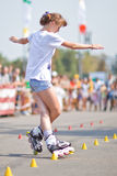 Rollerskating competition Royalty Free Stock Photography