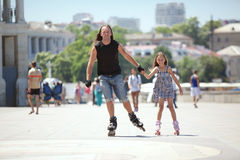 Rollerskating Stock Photography