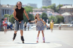 Rollerskating Royalty Free Stock Images