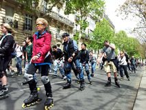 Rollerskating w Paryż Fotografia Stock