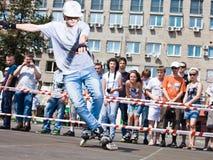 Rollerskatingkonkurrenz Stockbild