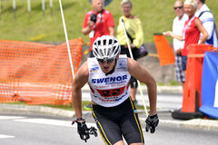 Rollerskiing Championships Stock Images