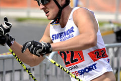 Rollerskiing Championships Royalty Free Stock Image