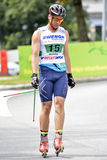 Rollerskiing Championships Stock Photography