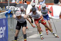 Rollerskiing Championships Royalty Free Stock Photography