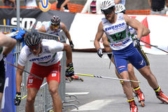 Rollerskiing Championships Royalty Free Stock Photo