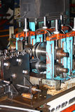 Rollforming Machine for Commercial Manufacturing. Rollformer machines in a commercial manufacturing plant Stock Image
