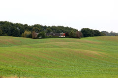 Rolling arable fields near Enetorp, Sweden Royalty Free Stock Photos