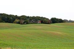 Rolling arable fields near Enetorp, Sweden Royalty Free Stock Photos