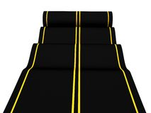 Rolling asphalt carpet road on white background Royalty Free Stock Image