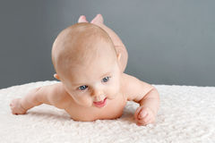 Rolling baby Royalty Free Stock Photos