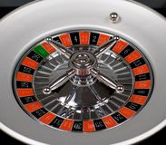 Rolling ball. Ball is rolling on roulette stock photo