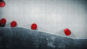 Rolling barrell. And concrete abstract background stock illustration