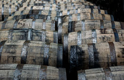 Rolling Bourbon Barrels Royalty Free Stock Photography
