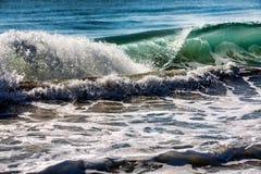 Rolling breaking ocean waves. Royalty Free Stock Image