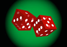 Rolling casino dices Stock Images