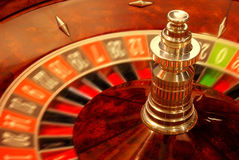 Rolling casino roulette Royalty Free Stock Images