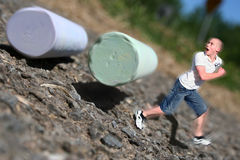 Rolling Chalk Rampage! Royalty Free Stock Photos