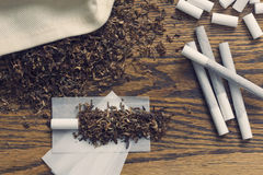 Rolling Cigarettes Royalty Free Stock Photos