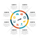 Rolling Circle Infographic Royalty Free Stock Photography