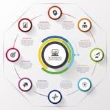 Rolling circle. Modern design template. Vector illustration Stock Photo