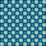 Rolling circles. Seamless pattern of rolling blue retro circles Royalty Free Stock Photos