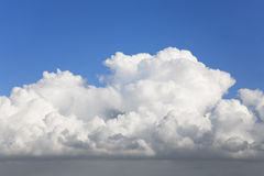 Rolling Clouds. Rolling white clouds on weather front Royalty Free Stock Image