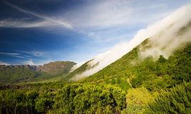 Rolling clouds in la palma Royalty Free Stock Image