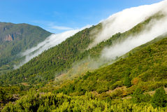 Rolling clouds in la palma Royalty Free Stock Photos