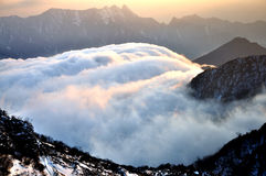 Rolling Clouds at Niubei Mountain Royalty Free Stock Image