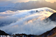 Rolling Clouds at Niubei Mountain Royalty Free Stock Photos