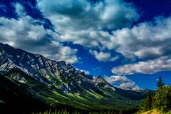 Rolling clouds over the foothills. Peter Lougheed Provincial Park. Alberta, Canada Royalty Free Stock Image