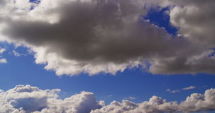 Rolling clouds timelapse stock video footage