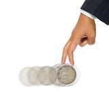 Rolling coin Stock Image