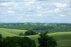 Rolling Countryside. The rolling countryside of Ozark County Missouri royalty free stock photos