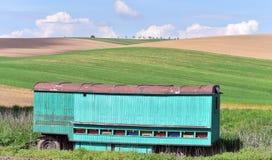 Rolling de zomerlandschap van Moravië Stock Afbeeldingen