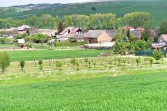 Rolling de zomerlandschap van Moravië Royalty-vrije Stock Afbeelding