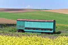 Rolling de zomerlandschap van Moravië Stock Foto's