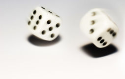 Rolling dice. With move effect Royalty Free Stock Photography