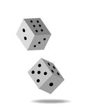 Rolling dice Royalty Free Stock Images
