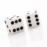 Rolling Dice Royalty Free Stock Photos