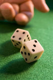 Rolling dice Royalty Free Stock Photo