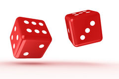 Rolling dice. On white backround vector illustration