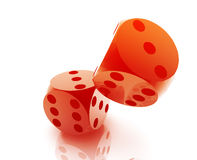 Rolling dice Royalty Free Stock Image