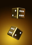 Rolling dice background Royalty Free Stock Image
