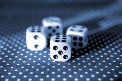 Rolling the dice concept for business risk, chance, good luck or gambling. Close - up Stock Photo